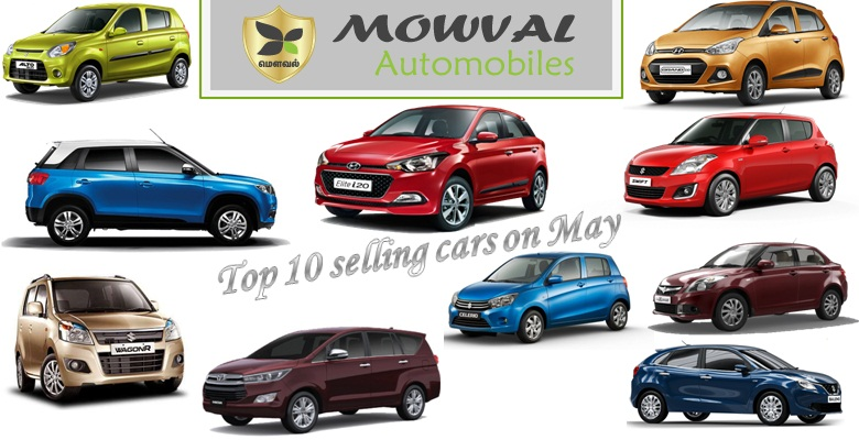Top 10 best-selling Car in May 2016