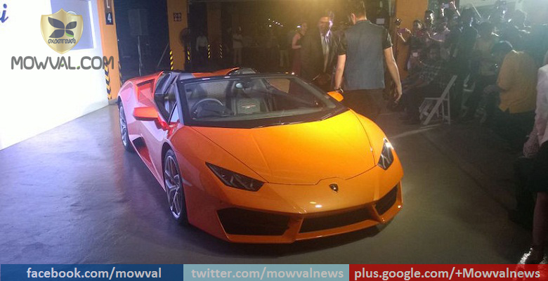 Lamborghini Huracan Spyder RWD Launched at price of Rs 3.45 Crore