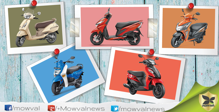 Five Best Scooter Models Launched In India On 2017