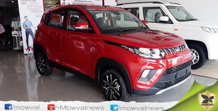 Mahindra KUV100 Facelift To Launch On Tomorrow