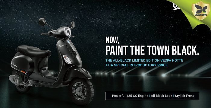 Vespa Notte 125 Special Edition Launched In India At Rs 68,645