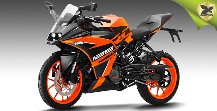 KTM RC 125 ABS motorcycle launched in India, priced at Rs