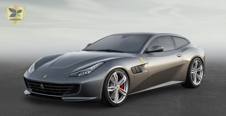 Ferrari GTC4Lusso showcased at the  Geneva Motor Show