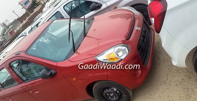 Spy images of Maruti suzuki Alto 800 facelift leaked