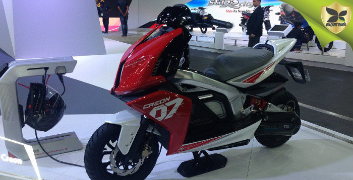 2018 Delhi Auto Expo: TVS Showcases The Creon Electric Scooter Concept