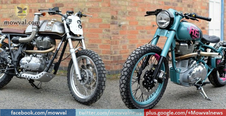 Images of Two Royal Enfield Factory Custom Motorcycles