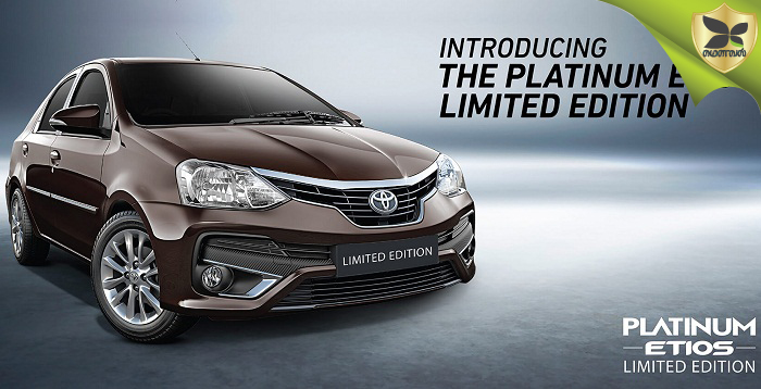 Toyota Platinum Etios Limited Edition launched In India