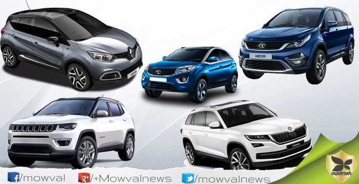 Five Best SUV Models Launched In India On 2017