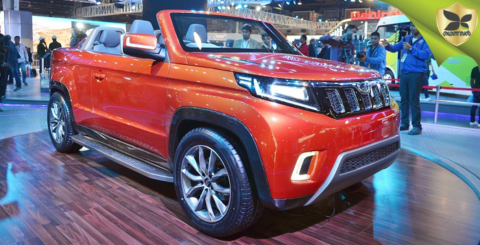 2018 Delhi Auto Expo: Mahindra Showcases TUV Stinger Convertible SUV