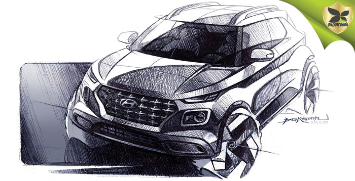 2019 Hyundai Venue Teased In Official Sketches Ahead Debut