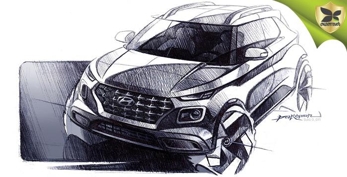 ஹூண்டாய் வென்யூ காம்பேக்ட் SUV மாடலின் வரைபடங்கள் வெளியிடப்பட்டது