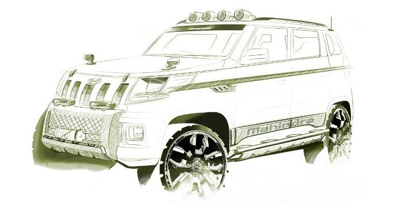 மகிந்திரா நிறுவனம் TUV 300 என்ற புதிய SUV  மாடலின் வரைபடத்தை வெளியிட்டது