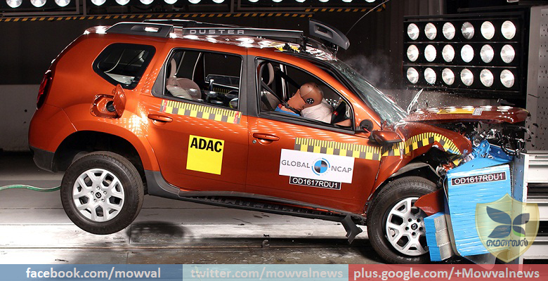 Renault Duster scores zero star in the Global NCAP Crash Test