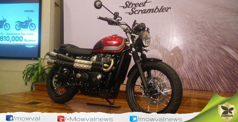 Triumph Motorcycles Launched The Street Scrambler With Price Of Rs 8.1 lakh