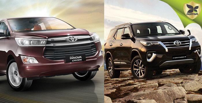 2019 Toyota Innova Crysta and Fortuner Launched In India