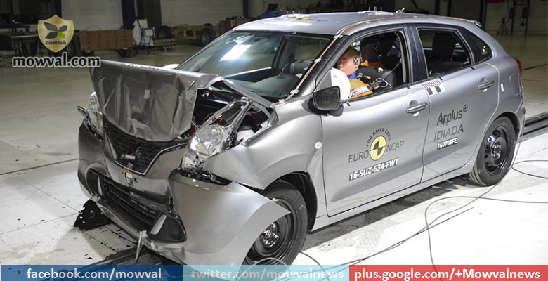 Maruti Baleno awarded 3 stars in Euro NCAP crash test