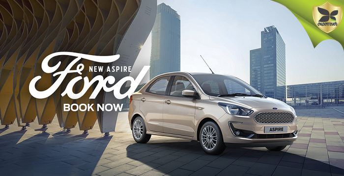 All New Ford Aspire Facelift Booking Begins
