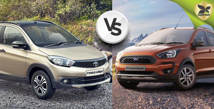 Tata Tiago NRG And Ford Freestyle Detailed Comparison