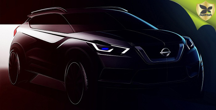 Nissan Kicks officially Teased In India With Sketches