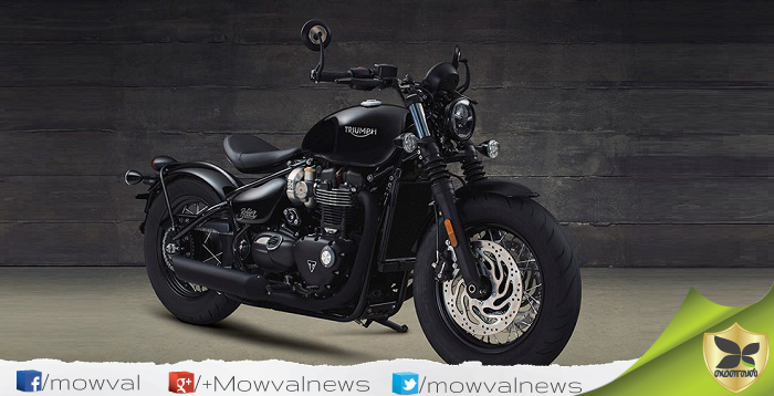 Triumph Bonneville Bobber Black Revealed