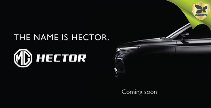 MG SUV Now Officially Named As MG Hector