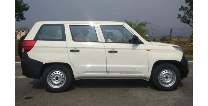 Mahindra TUV300 Plus Spied Again Without camouflage