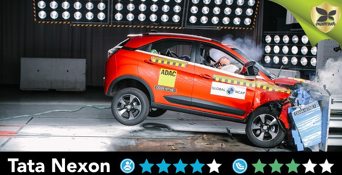 Tata Nexon Scores Four Star Rating In Global NCAP