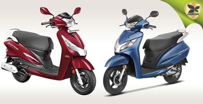 Hero Destini 125 And Honda Activa 125 Detailed Comparison