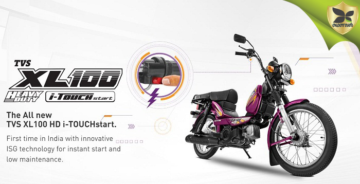 TVS Introduces XL100 Heavy Duty With New i-Touch Start